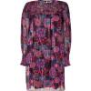 Anna Sui Hot Pink Multicolor Lurex Kleid