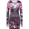 Balmain Black-Multi Floral Jersey Dress