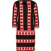 Collette by Collette Dinnigan Ink/Red Printed Jersey Shift Dress