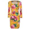 Dolce & Gabbana Seiden Kleid Mit Floralem Print
