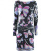 Emilio Pucci Black Multi Print Silk Dress
