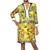 Etro Bedrucktes Kleid Aus Seidentwill