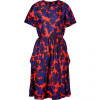 Marc by Marc Jacobs Corvette Red-Multi Belted Onyx Floral Silk Dress