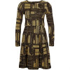 Orla Kiely Oak Tree Cocktailkleid / festliches Kleid lurex/evergreen