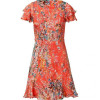 Paul & Joe Tangarine Multicolor Floral Print Dress