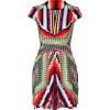 Peter Pilotto Damask Red Multi Printed Silk Dress