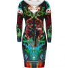 Roberto Cavalli Mulicolor Belted Jasper Dress
