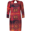 Sandro Red Multicolored Dress
