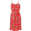 Tucker Red Lantern Sunflower Print Dress