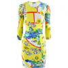Versace Yellow Multi Print Dress
