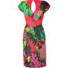 Alberta Ferretti Multicolor Draped Jersey Dress