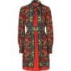 Anna Sui Brick Multi Bamboo Floral Print Kleid