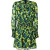 Anna Sui Chartreuse Multicolor Silk Blend Kleid