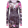 Balmain Black-Multi Floral Jersey Dress