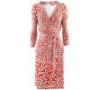Diane von Furstenberg Red White Dress New Julian