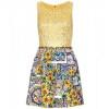 Dolce & Gabbana Gemustertes Kleid Yellow Sunflowers