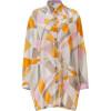 Emilio Pucci Pumpkin Multi-Cube Sheer Shirt Dress