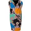 Etro Black-Multi Printed Jersey Kleid