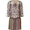 Etro Taffy-Multi Floral 3/4 Sleeve Kleid