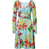 Issa Azure Silk Jersey Wrap Dress