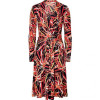 Issa Black Multicolor Leafes Print Silk Jersey Dress