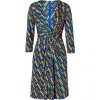 Issa Royal/Apple Multi Geometric Print Silk Jersey Dress