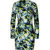 Lala Berlin Multi Color Wolf 3D Printed Dress Yolanda