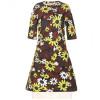 Marni Kleid Mit Floralem Print