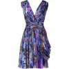 Matthew Williamson Blue Draped Silk Chiffon Dress