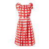 Milly Layla Pleated Dress Rot