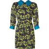 Milly Onyx/Jade Combo Demure Silk Dress