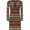 Missoni M Chocolate/Lemon Multi Patterned Knit-Dress