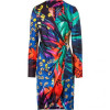 Salvatore Ferragamo Multicolor Printed Wrap Dress