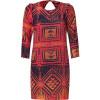 Sandro Red Multicolored Dress