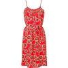 Tucker Red Lantern Sunflower Print Dress