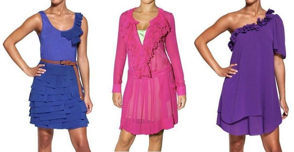 Unser letzter Frühjahr / Sommer 2012 Trend: Rüschen Kleider