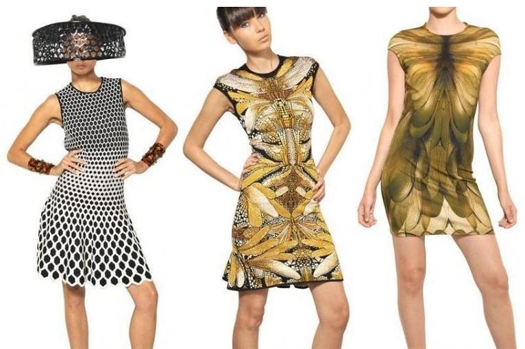 Die Kleider der Marke Alexander McQueen 2013 –  edgy und metallisch