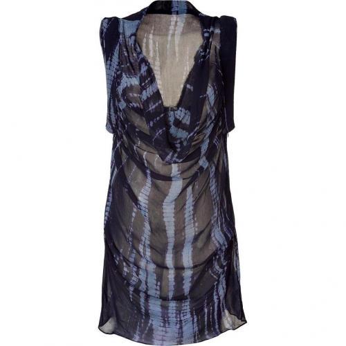 2nd Day Indigo Tie Dye Georgette Dress