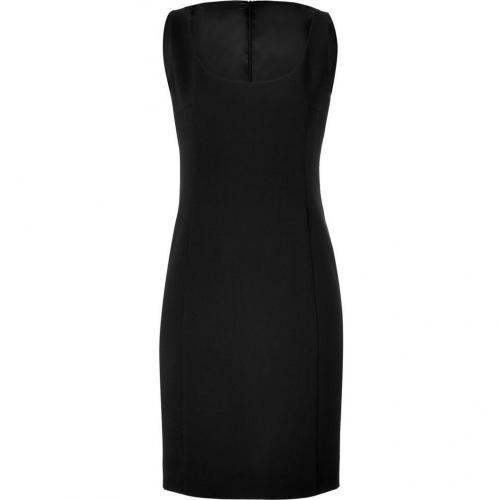 Akris Black Sleeveless Scoop Neck Dress