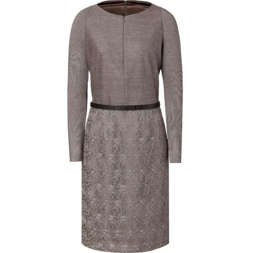 Akris Warm Taupe Belted Dress