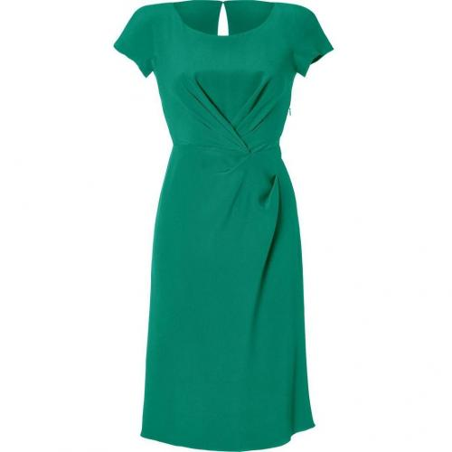 Alberta Ferretti Emerald Draped Silk Dress