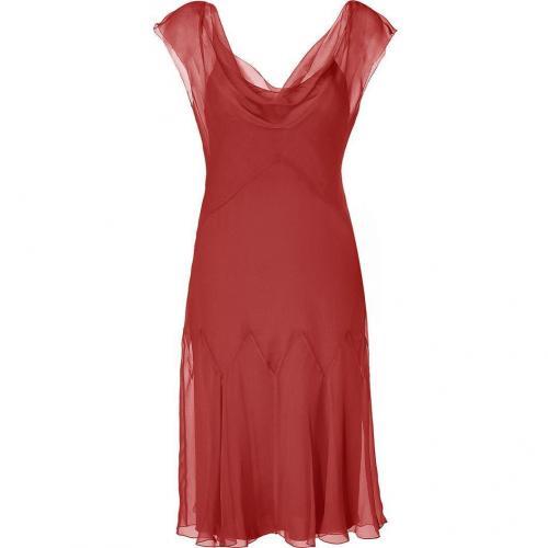 Alberta Ferretti Ruby Red Silk Godet Dress
