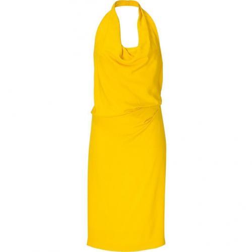 Alberta Ferretti Sun Flower Neck Holder Silk Dress