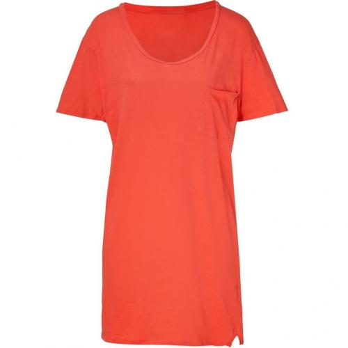 American Vintage Grapefruit Cotton T-Shirt Dress
