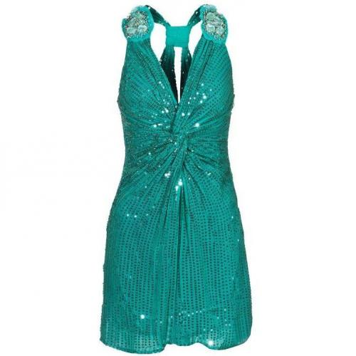 Amor&Psyche Sparkling Sequined Green