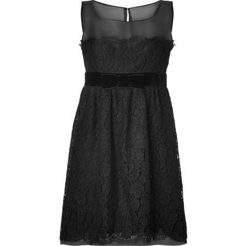 Anna Sui Black Botanic Lace Kleid