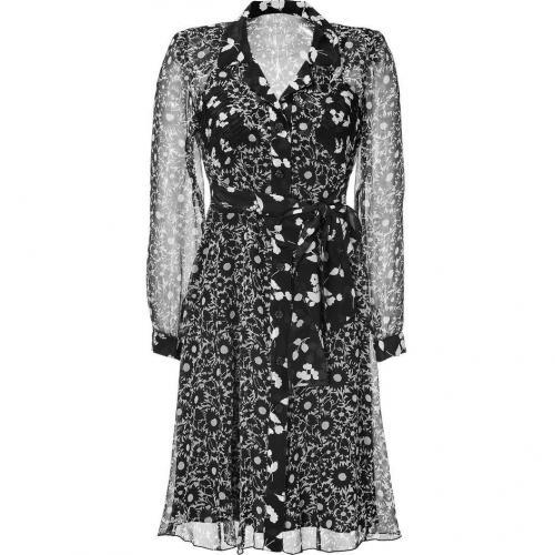 Anna Sui Black Button Down Kleid