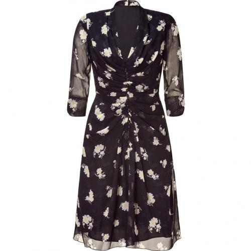 Anna Sui Black Marguerite Print Kleid