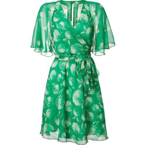 Anna Sui Green Wrap Silk Kleid