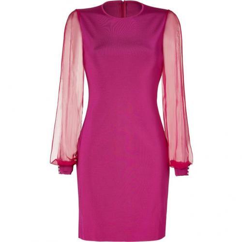 Azzaro Fuchsia Knit Myrrhe Combo Dress
